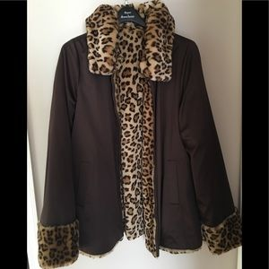 Dennis Basso Reversible mid length Coat/Jacket